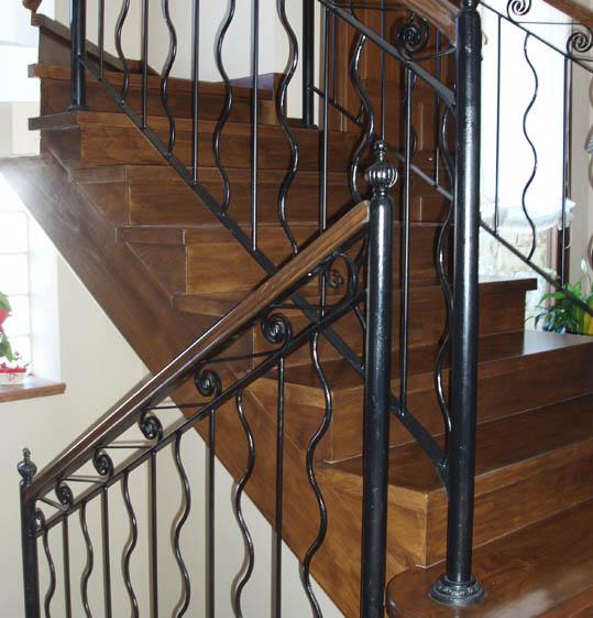 Barandillas de escaleras de forja free escalera de for Escaleras forja